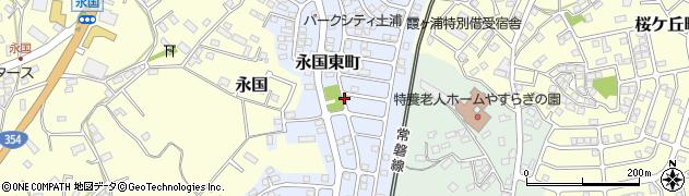 茨城県土浦市永国東町周辺の地図