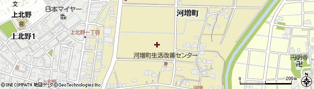 福井県福井市河増町周辺の地図