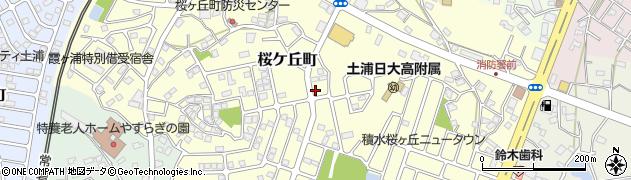 茨城県土浦市桜ケ丘町周辺の地図