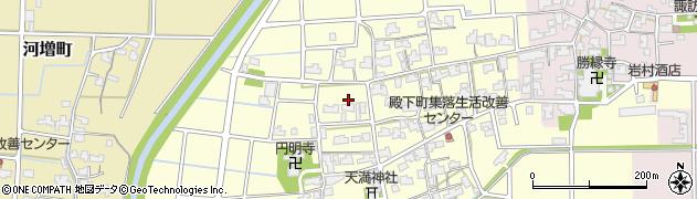 福井県福井市殿下町周辺の地図