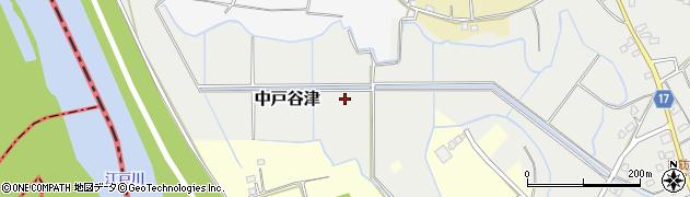 千葉県野田市中戸谷津周辺の地図