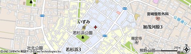 福井県福井市若杉浜周辺の地図