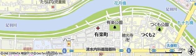 福井県福井市有楽町周辺の地図