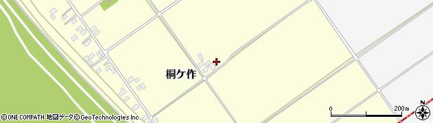 茨城県境町(猿島郡)桐ケ作周辺の地図