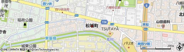 福井県福井市松城町周辺の地図
