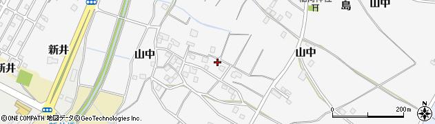 茨城県つくば市山中周辺の地図