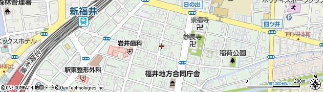 福井県福井市日之出周辺の地図
