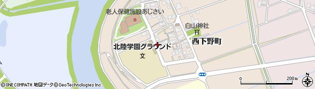 福井県福井市西下野町周辺の地図