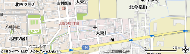 福井県福井市大東周辺の地図
