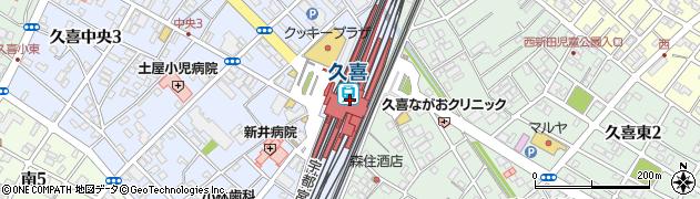 埼玉県久喜市周辺の地図