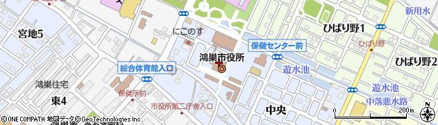 埼玉県鴻巣市周辺の地図