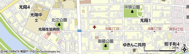 福井県福井市光陽周辺の地図