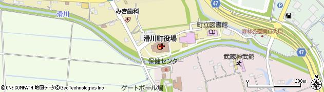 埼玉県比企郡滑川町周辺の地図