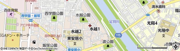 福井県福井市水越周辺の地図