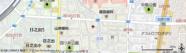 福井県福井市四ツ井周辺の地図