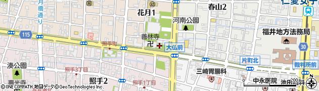 福井大仏周辺の地図