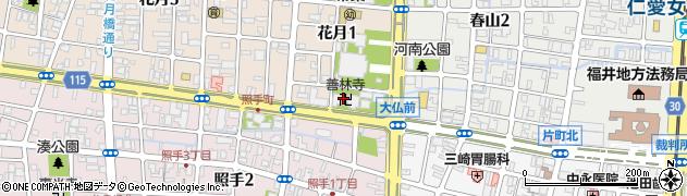 善林寺周辺の地図