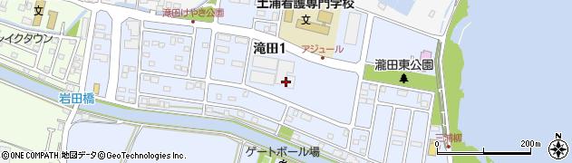 茨城県土浦市滝田周辺の地図