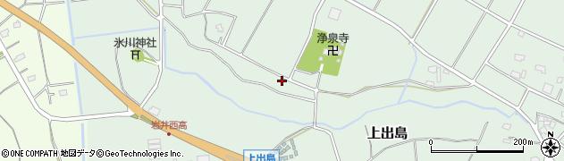 茨城県坂東市上出島周辺の地図