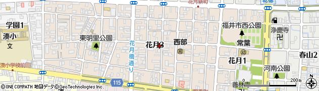 福井県福井市花月周辺の地図