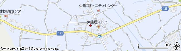 茨城県常総市大生郷町周辺の地図