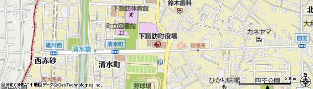 長野県下諏訪町(諏訪郡)周辺の地図