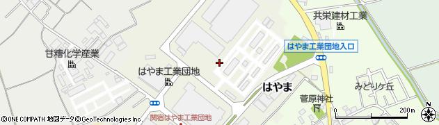 千葉県野田市はやま周辺の地図