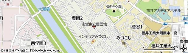 東安居団地周辺の地図