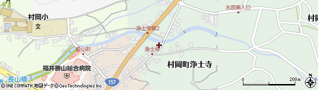 福井県勝山市村岡町浄土寺周辺の地図
