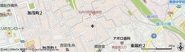 長野県岡谷市加茂町3丁目2-22周辺の地図