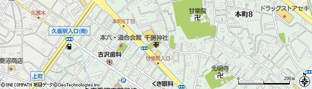 千勝神社周辺の地図