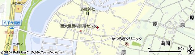 茨城県つくば市西大橋周辺の地図