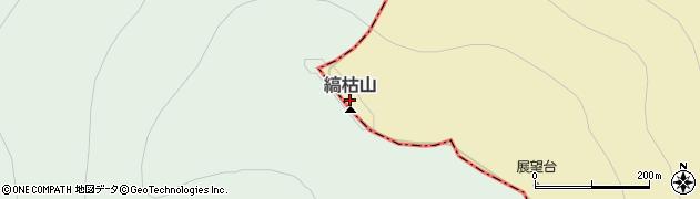 縞枯山周辺の地図