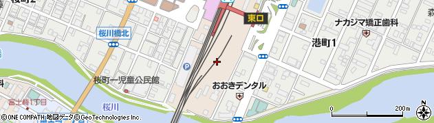 茨城県土浦市有明町周辺の地図