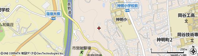 長野県岡谷市西林周辺の地図