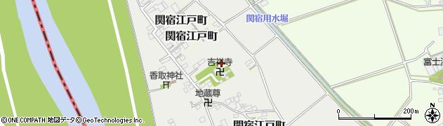 千葉県野田市関宿元町周辺の地図
