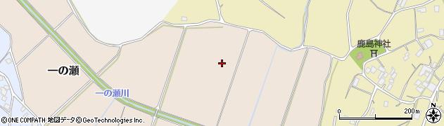 茨城県かすみがうら市一の瀬周辺の地図