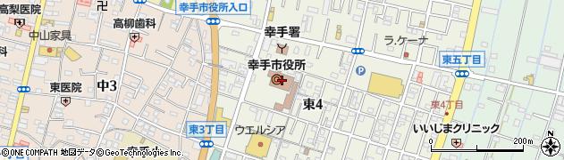 埼玉県幸手市周辺の地図