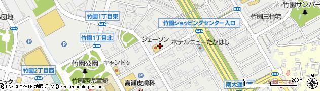 ローヤル21学園竹園店周辺の地図