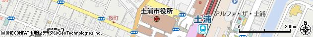 茨城県土浦市周辺の地図