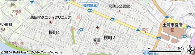 茨城県土浦市桜町周辺の地図