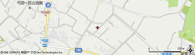 茨城県坂東市弓田周辺の地図