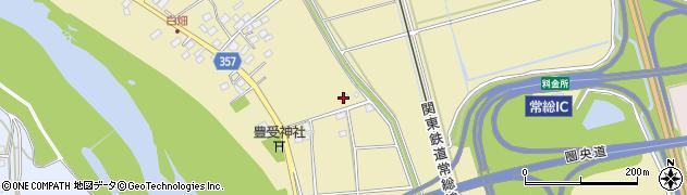 常総市役所 水道課三坂配水場周辺の地図
