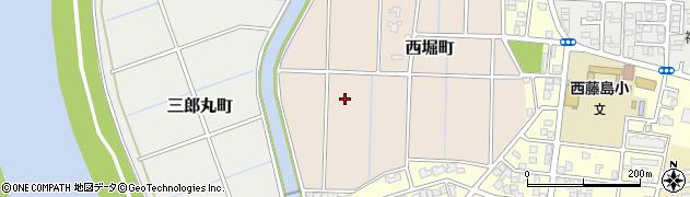 福井県福井市西堀町周辺の地図