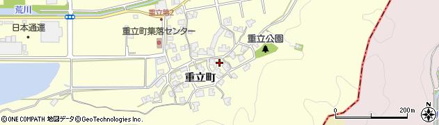福井県福井市重立町周辺の地図