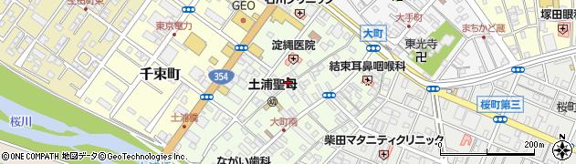 茨城県土浦市大町周辺の地図