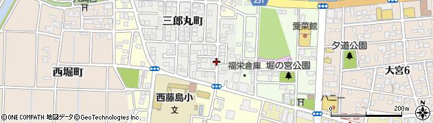 福井県福井市三郎丸町周辺の地図