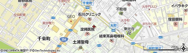 土浦市役所 水道課周辺の地図