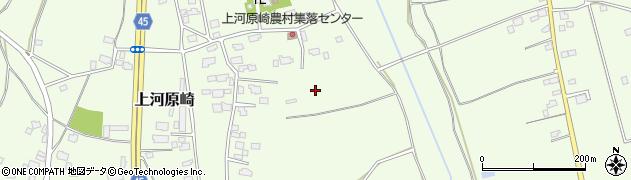 茨城県つくば市上河原崎周辺の地図