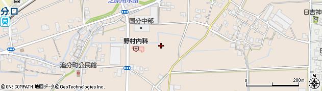 福井県福井市上中町周辺の地図